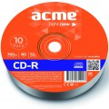 Диск CD-R ACME 700Mb 52x shrink 10шт (4770070854457)